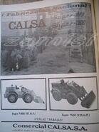 A 1981 CALSA Loader Model Range