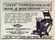 A 1940s LINER Block and Brick machine