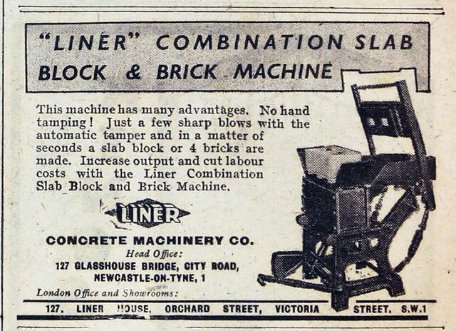 File:A 1940s LINER Block and Brick machine.jpg