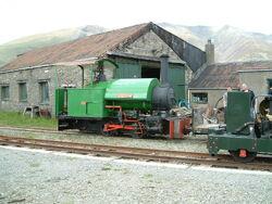 Narrow Gauge steam loco at Threlkeld