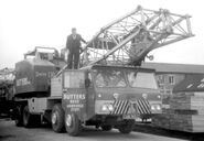 A 1970s Smith Of Rodley T30 Cranetruck on Foden carrier