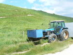 Blue Tractor - geograph.org.uk - 897051