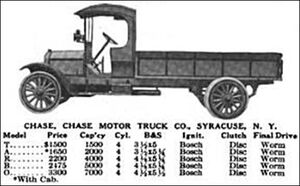 Chase-truck 1918 models