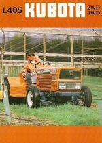 Kubota L405 orchard brochure