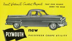 Plymouth Cranbrook Coupe Utility ad