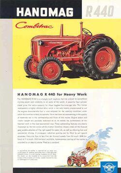 Hanomag R 440 Combitraac ad - 1959