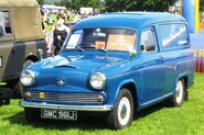Morris half ton van license plate 1970 based on pre Farina Austin Cambridge saloon
