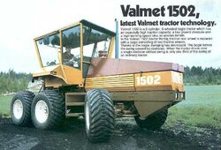 Valmet 1502 6WD ad - 1977