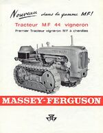 MF 44 vineyard crawler b&w brochure - 1964
