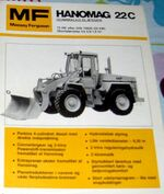 MF Hanomag 22C wheel loader brochure