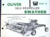 Oliver 86 swather