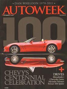 Autoweek Magazine Cover - Chevy's Centennial Celebration