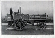 A 1900 Thornycroft Steam Wagon