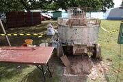 Pan mixer - lime plaster at Onslow Park 2011 - IMG 3937