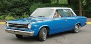 1966 Rambler American 4door-blue