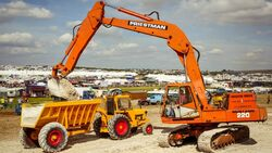 A 1980s Shawnee-Poole Dumper and Priestman Mustang Excavator