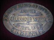 Andrew Barclay locomotive plaque