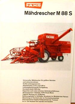 Fahr M 88 S combine brochure