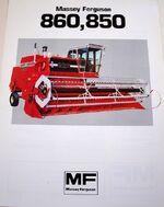 MF 850 combine brochure - 1983