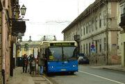 Novi Sad, Petrovaradin, Beogradska, autobus, lidé nastupují