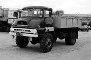 A 1960s AWD Ford Trader 4X4 Tipper