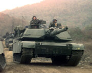 M1A1 Twin Bridges training area 2C Republic of Korea 1-23 Infantry