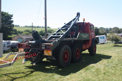 AEC militant 6x6 VSK 996 - rear jib - at woolpit 09 - IMG 1460