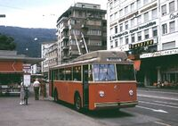 Berna-built trolleybus in Biel, 1979