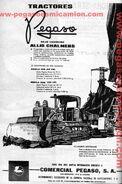 Pegaso AC crawler b&w ad - 1963