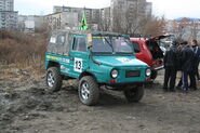 Russian off-road car Luaz after tuning