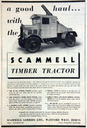 A 1930s Scammell Timberwork Lorry