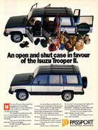 Passport Isuzu Trooper II ad - 1988