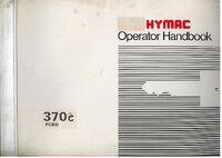 HYMAC OPERATOR MANUAL 370C