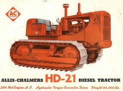 AC HD-21 crawler brochure