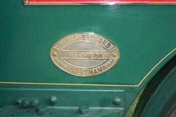 Aveling-Barford AD155 - plate - IMG 0437