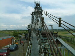 BE Dragline View down the Boom