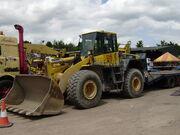 Komatsu WA380 loading shovel - SE Davis & Son - P6150209