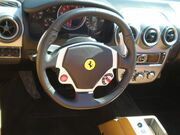Red Ferrari F430 Spider steering wheel