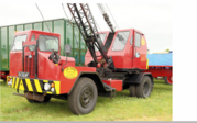 A 1970s Priestman Brothers Wolf Cranetruck on Mack Carrier