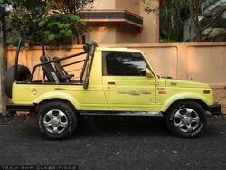 Maruti Gypsy (yellow)