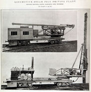 A 1912 Whitaker Brothers Railway Locomotive Steam Piledriver