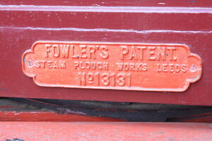 Fowler no.13131 - living van mfc plate - IMG 1359