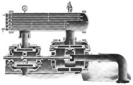Ingersoll-Rand Class AA-2 air compressor cross section 1910