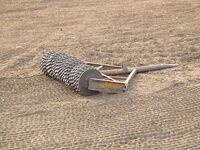 Crumbler roller on a field near Karkur