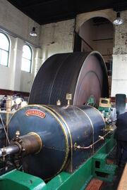 Ellenroad Mill engine - Alexandra & the rope drum - IMG 8474