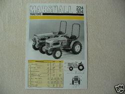 Marshall 224 MFWD & 304 MFWD b&w brochure