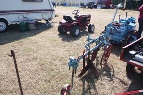Ransomes TS30B plough Ransomes MG2 at Astwoodbank 2011 - IMG 8601