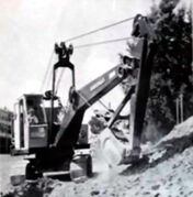 A 1950s Priestman Brothers Cub Crawler Excavator Diesel