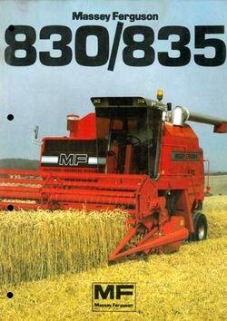 MF 835 combine brochure