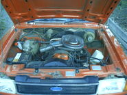 Australian Cortina TE 6 cyl engine bay
